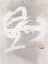 White calligraphy - Calligraphie blanche