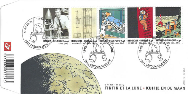 Tintin et la Lune - First Day Covers Click to ZOOM